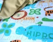 Animal Print Fleece Toddler Baby Blanket for Girls and Boys (30x40)