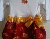 USC Trojans inspired baby girl outfit