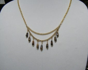 Tiger Eye Tiered Necklace