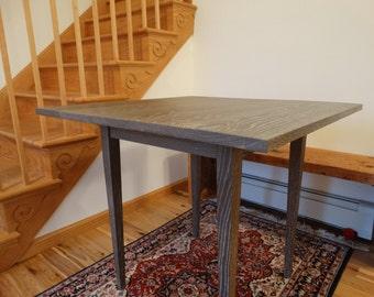 Custom oak table with a cerused finish