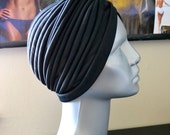 FREE SHIPPING Black Boho Turban Hat