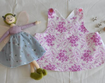 Classic Pinafore, Made With Beautiful German Vintage Fabric size 2/3T