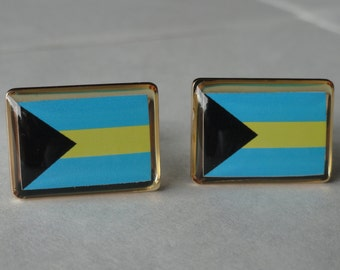 Bahamas Flag Cufflinks