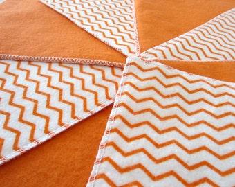 Diaper Wipes/Flannel Wash Cloths/Flannel Cloth Diaper Wipes for Baby, Orange Chevron (10)