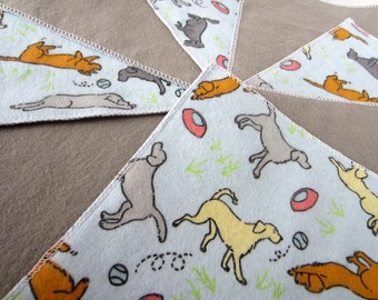 Diaper Wipes/Flannel Washcloths/Cloth Diaper Wipes for Baby (10) with puppies playing catch