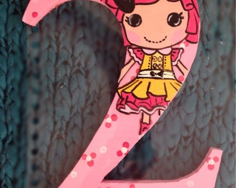 HAND PAINTED Number Photo Prop- lalaloopsy
