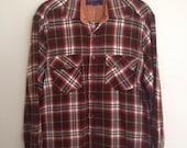Vintage Woodland Plaid Lumberjack Flannel M