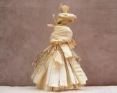 Corn Husk Doll Corn Shuck Doll Rustic Corn Doll  Rustic Sunday Best