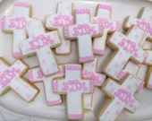Baptism/Christening Monogram Cross Cookies