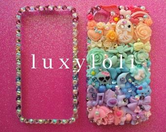 Custom Pastel Rainbow Style Decoden Phone Case