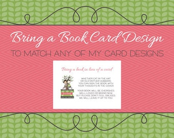 Bring a Book Card to match, digital, printable file