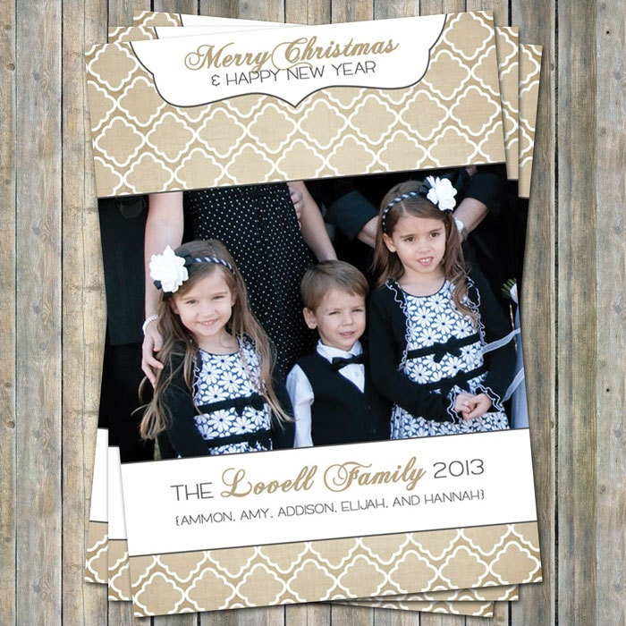 Christmas/New Year photo card, digital printable file