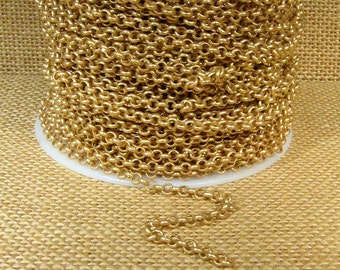 5ft 3.8mm Rolo Chain - Matte Gold - CH12