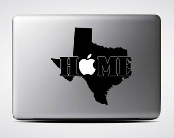 Texas State Home / Macbook Sticker / Laptop Decal