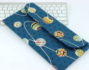 Apple Wireless Keyboard Covers,Gift For Geeky, Kimono Fabrics, Mari-Balls Turquoise