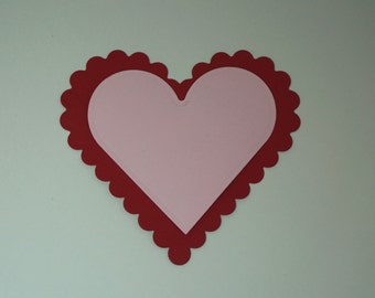 Valentine Hearts, Hearts Die Cuts, Hearts Embellishment, Valentine Notes, Scalloped Hearts, Large Hearts Die Cut, Heart Cut Outs, Heart Note