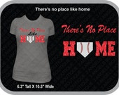 There's no Place like Home glitter vinyl  Baseball or softball Silhoutte shirt