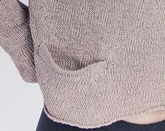 Knitting machine welt pocket pattern