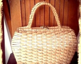 SWEET   ///    Woven 50s Handbag