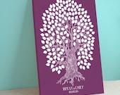 Guest Book Oak Tree - Wedding Wish Tree - Peachwik Interactive Signature Art- 175 guests - Oakwik Tree -Wedding Gallery Wrapped Canvas
