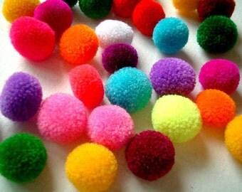 Pompoms/Hmong pompoms/Ethnic Accessory/colorful /wholesale