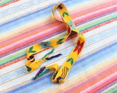 Woven Ethnic Belt / Colorful Tie Belt with Tassels / Vintage Accessory