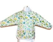 Shirt Saver Full Coverage Baby or Toddler Bib With Long Sleeves and Pocket- Waterproof - Dinosaur Print