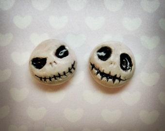 Jack Skellington earrings - Hand-sculpted kawaii Nightmare Before Christmas tribute