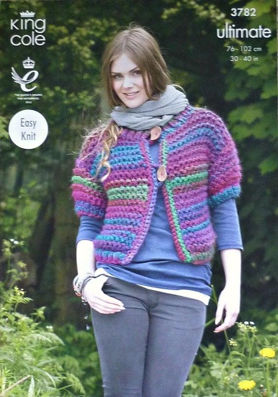 Knitting Pattern Ladies Short Sleeve Cardigan : K3782 Ladies Short Sleeve Cardigan Knitting by KnittingPatterns4U