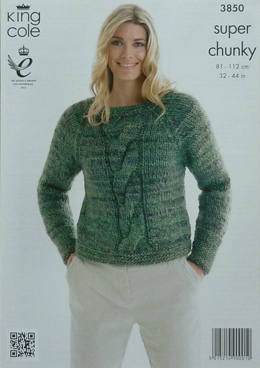 Super Chunky Jumper Knitting Pattern : Womens Knitting Pattern K3850 Ladies Long Sleeve Cable Jumper Knitting Patter...