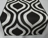 """Black and white table runner - black edge - 72"""" length"""