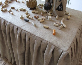 Burlap Table Cloth - 10oz. -  Square, Rectangle, OR Round - SELECT A SIZE