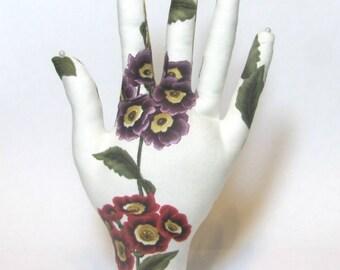Hydrangea Tulip Fabric Hand Jewelry Display REGULAR WristStyle Reading Glasses HAND-Stand