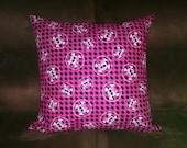 Pink Girly Skull Monster High Inspired Pillow