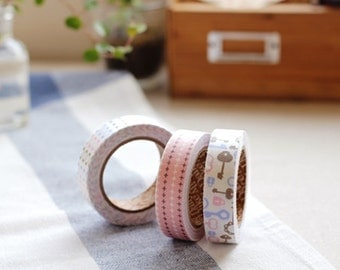 Decorative Adhesive Fabric Masking  Tape- Maze (3 Set)