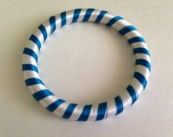 Blue & White Thread Bangle
