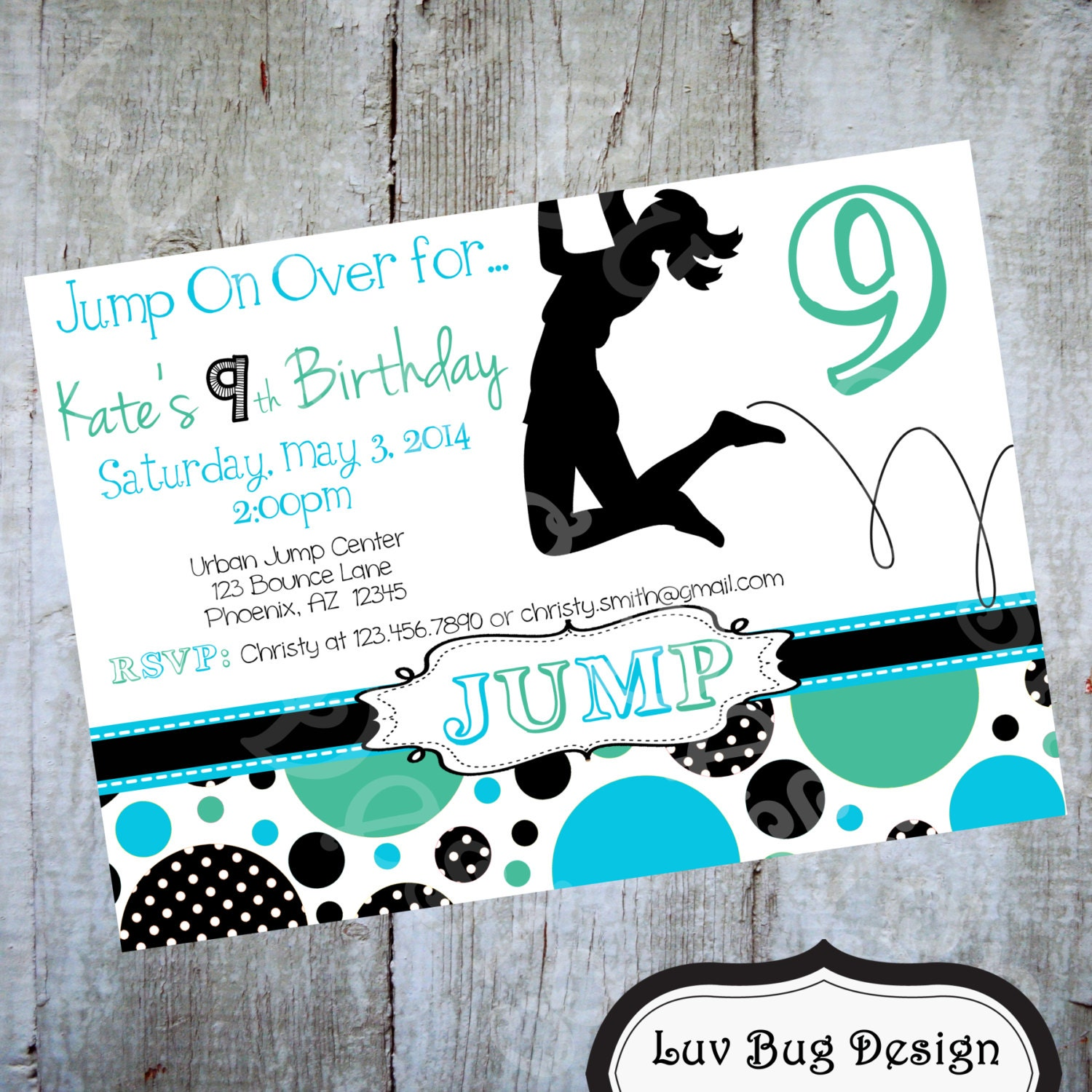 Trampoline Party Invitations: Trampoline Party Invitation Printable Party By Luvbugdesign