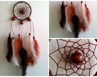 "3"" Brown Hemp Dream Catcher - Handmade"