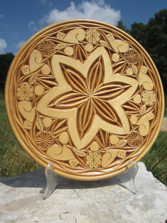 Items similar to chip carved decorative basswood inch