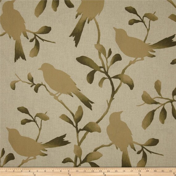 Two 26 x 26 Custom Decorative Pillow Covers -  Birds - Blue, Orange, Brown Olive