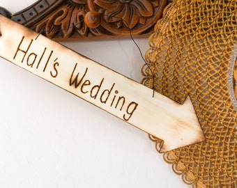 Rustic Engraved Wood Arrow Personalized