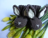 BABY KNITTING PATTERN in pdf - Baby Bunny Booties