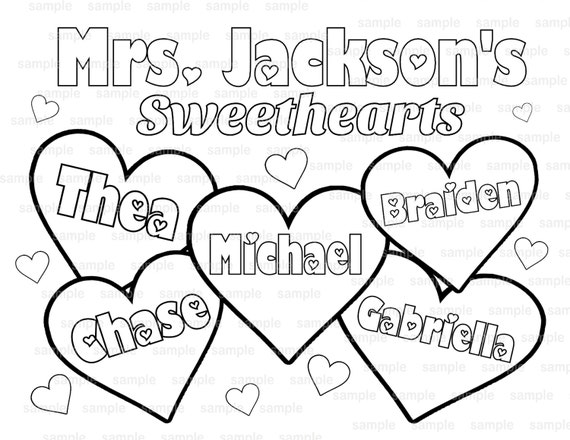 teacher valentine coloring pages - photo#9