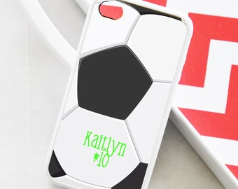 Soccer iPhone Case - Monogrammed Soccer iPhone Case - iPhone 4 Case - iPhone 5 Case - iPhone 5s Case