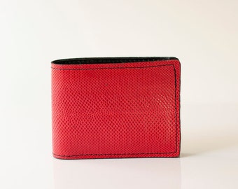 Leather Wallet / Karung Snake / Red