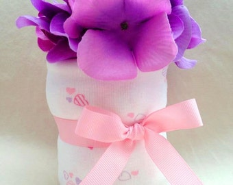 Baby Girl Onesie Cupcake  - an adorable baby shower gift, made to order