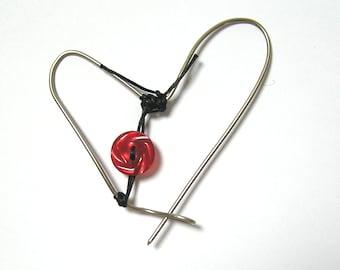 Handmade heart shaped brooch