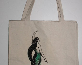 Canvas Mermaid Tote