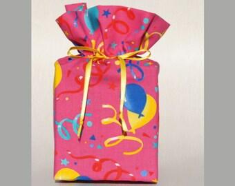 Birthday Tissue Box Cover, Pink, Handmade.