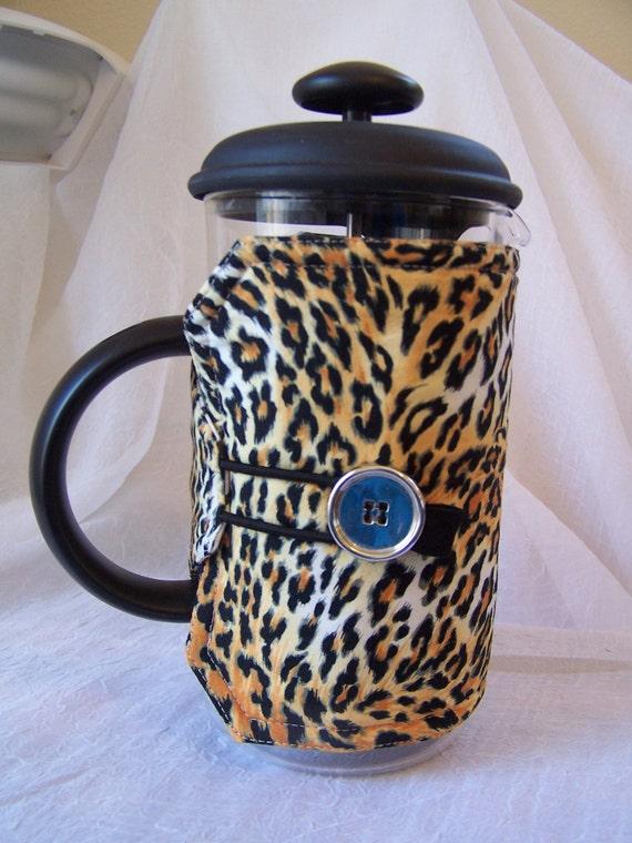 Leopard Print Coffee Press Pot Sleeve French Press Cozy 8